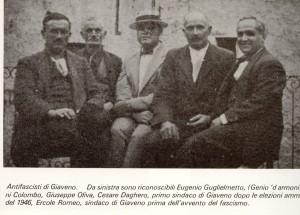 antifascisti giaveno Eugenio Guglielmetto-genio d'armoni, giovanni colombo giuseppe oliv cesare daghero ercole romeo