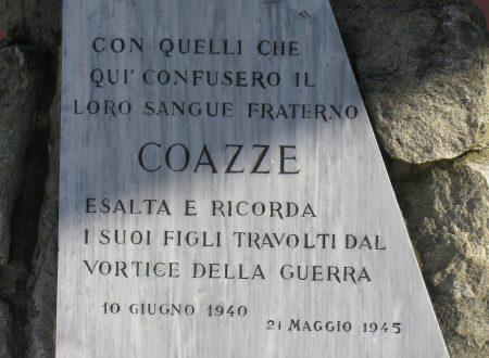 Via XXV Aprile (Coazze)   –  Cippo ricordo fucilati 26 maggio 1944