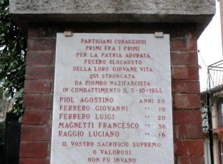 Rivalta, monumenti ai caduti