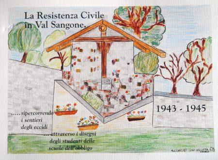 La Resistenza Civile in Val Sangone  – con disegni di alunni (1995)