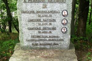 Giaconera – Cippo ricordo di tre partigiani della borgata