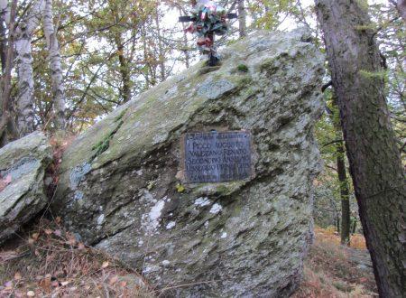 Croce e lapide ricordo 4 partigiani caduti