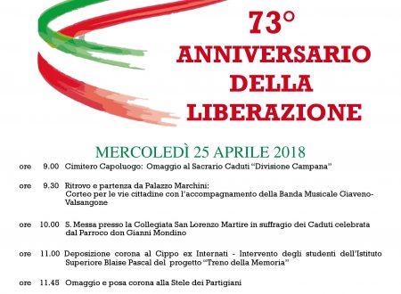 73° anniversario della Liberazione a Giaveno